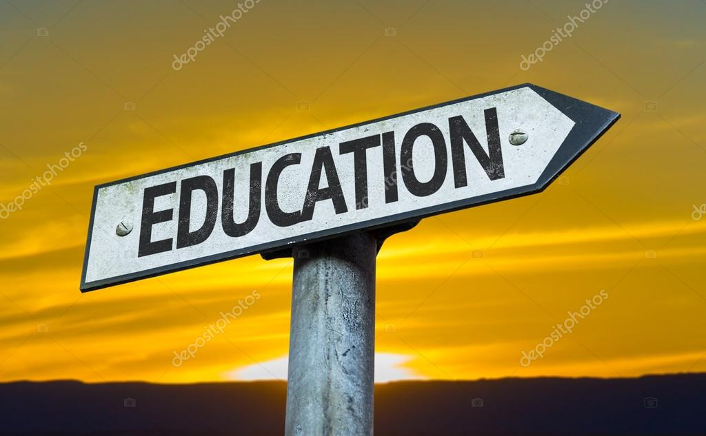 Text:Education on sign