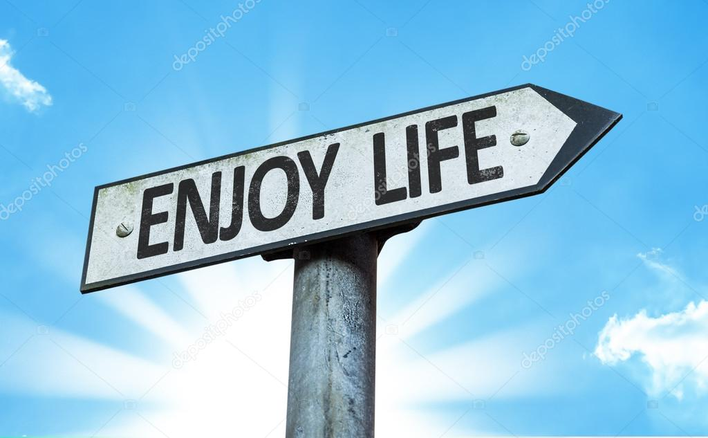 enjoy life sign stock photo gustavofrazao 64908061