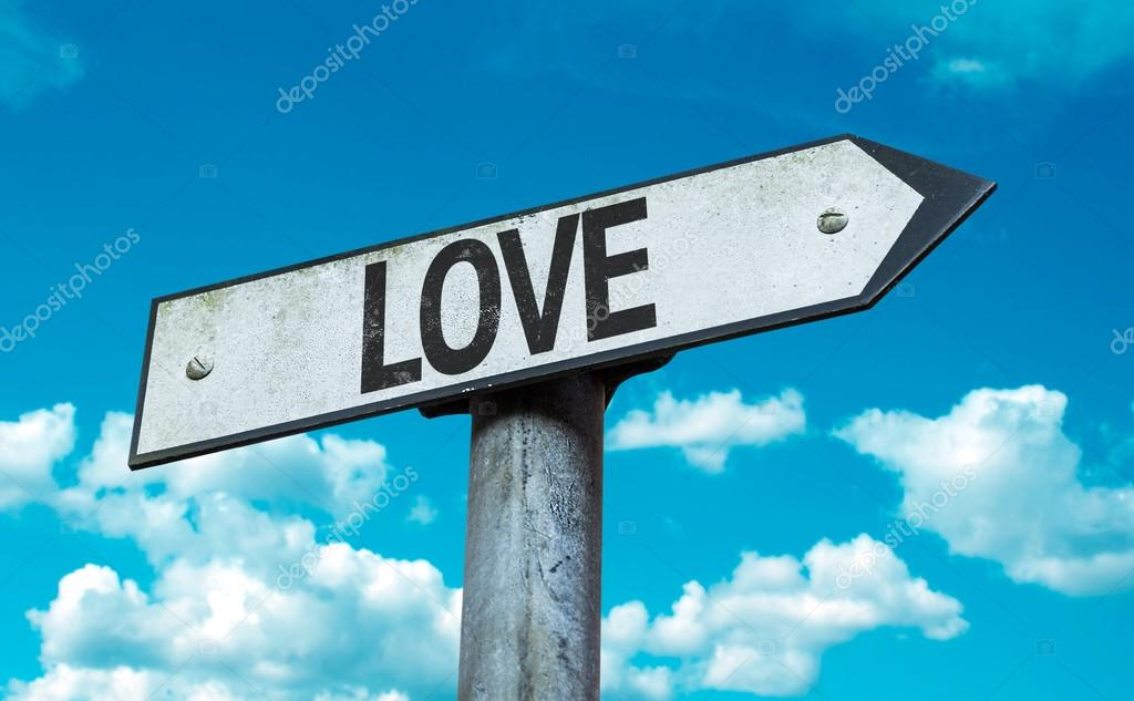 Text:Love on sign