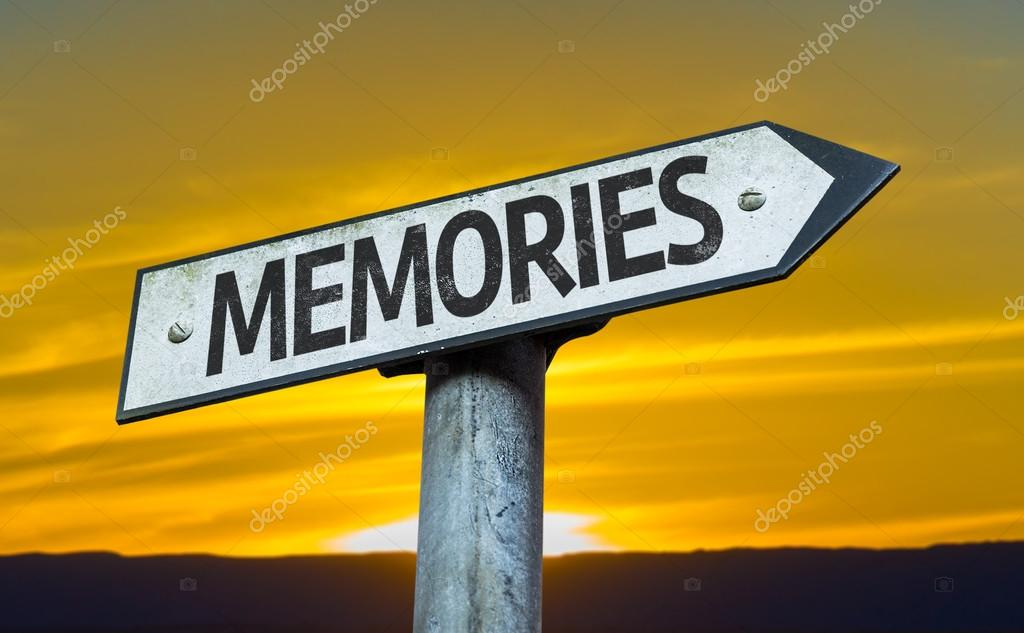 Text:Memories on sign