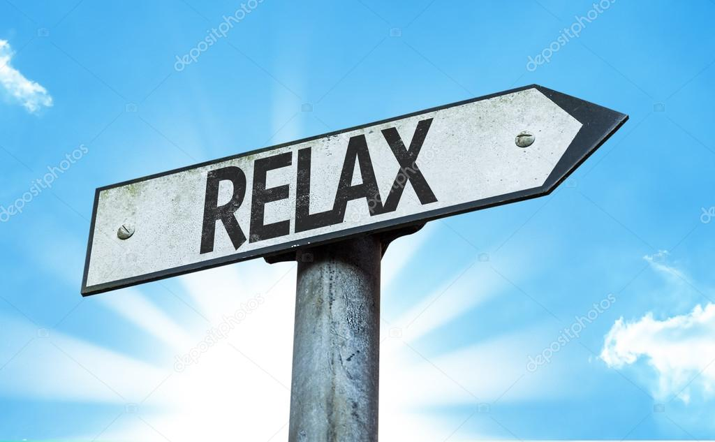 Text  Relax sign