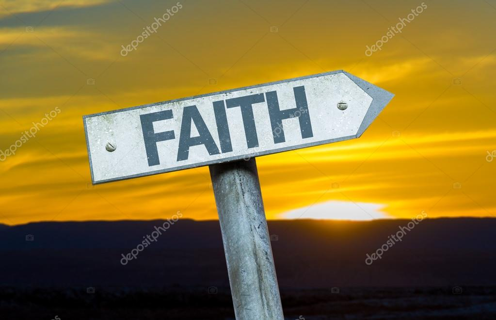 Text Faith  on sign