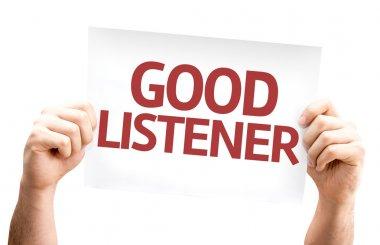 Good Listener card