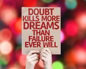 Fotografia Carta di dubbio uccide più sogni