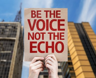 Be the Voice not the Echo card
