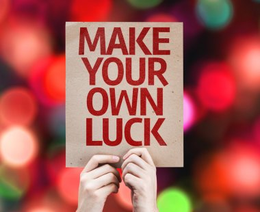 Make Your Own Luck card