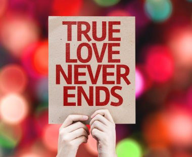 True Love Never Ends card