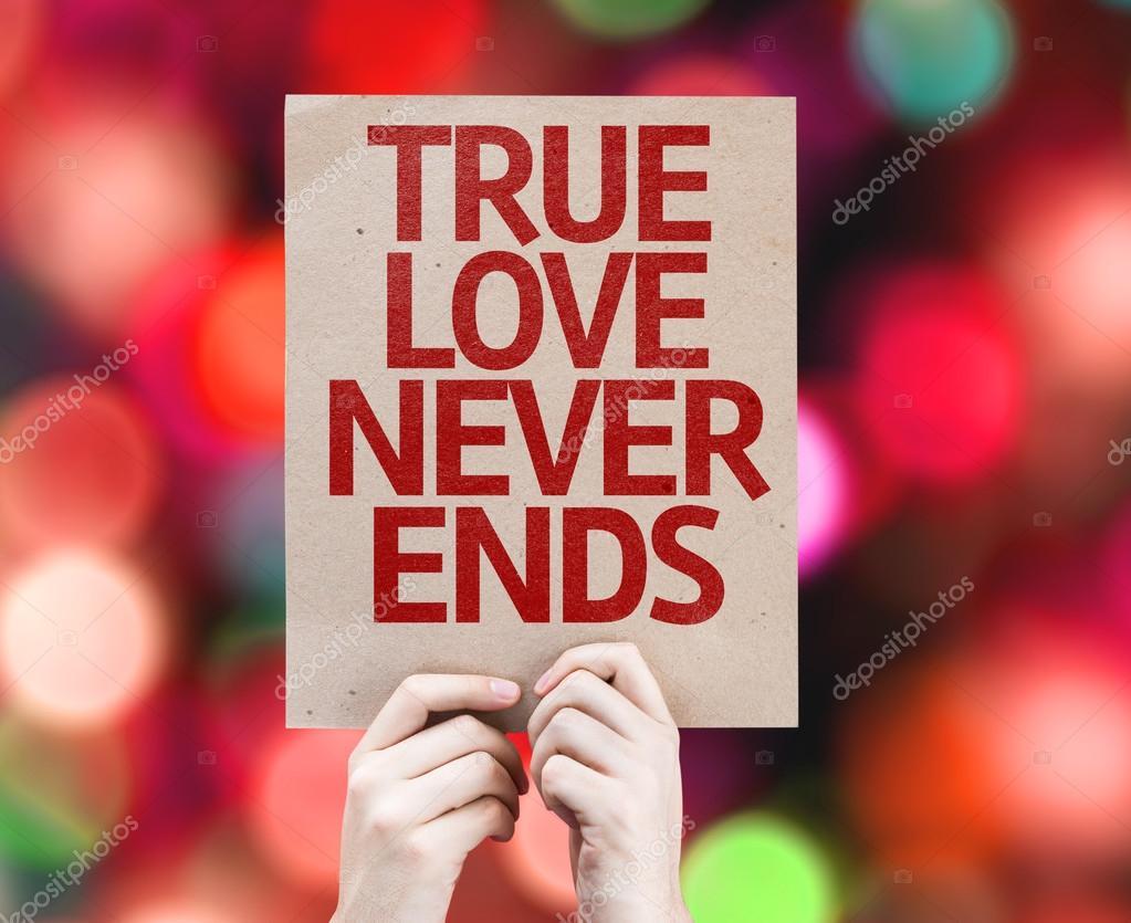 True Love Never Ends Card Stock Photo Gustavofrazao 67107567