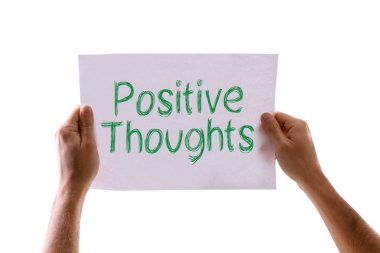 Positive Thoughts card