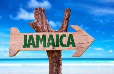 Jamaica wooden sign