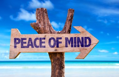 Peace of Mind wooden sign