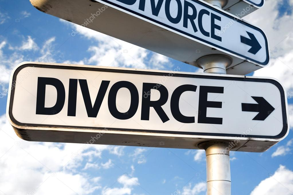 Divorce direction sign