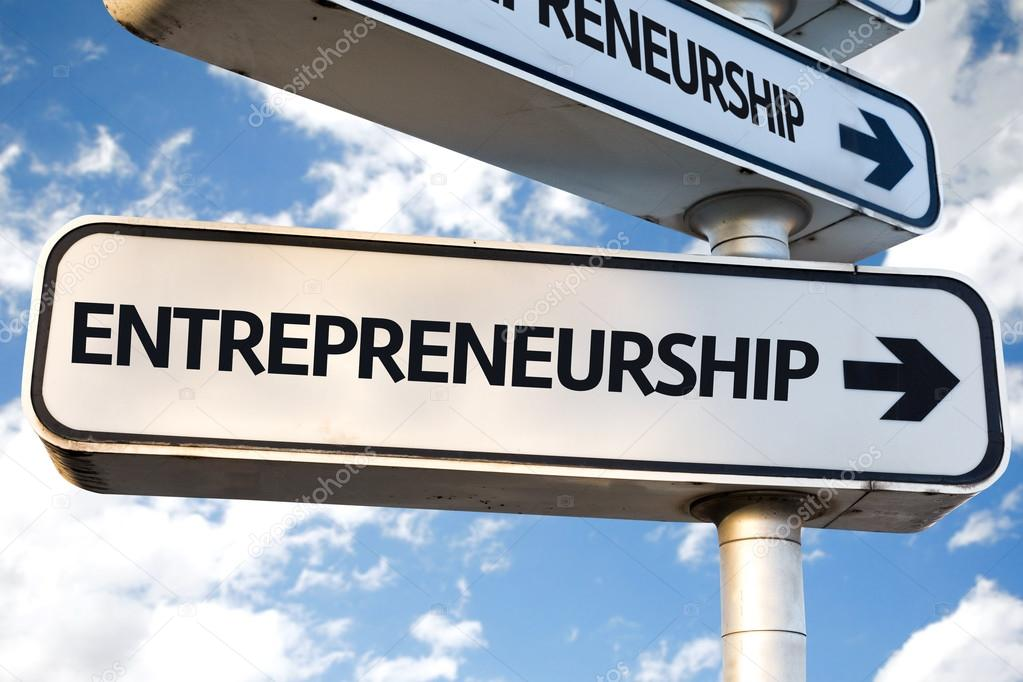 Entrepreneurship direction sign