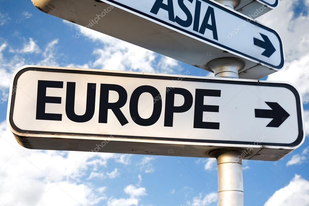 Europe direction sign