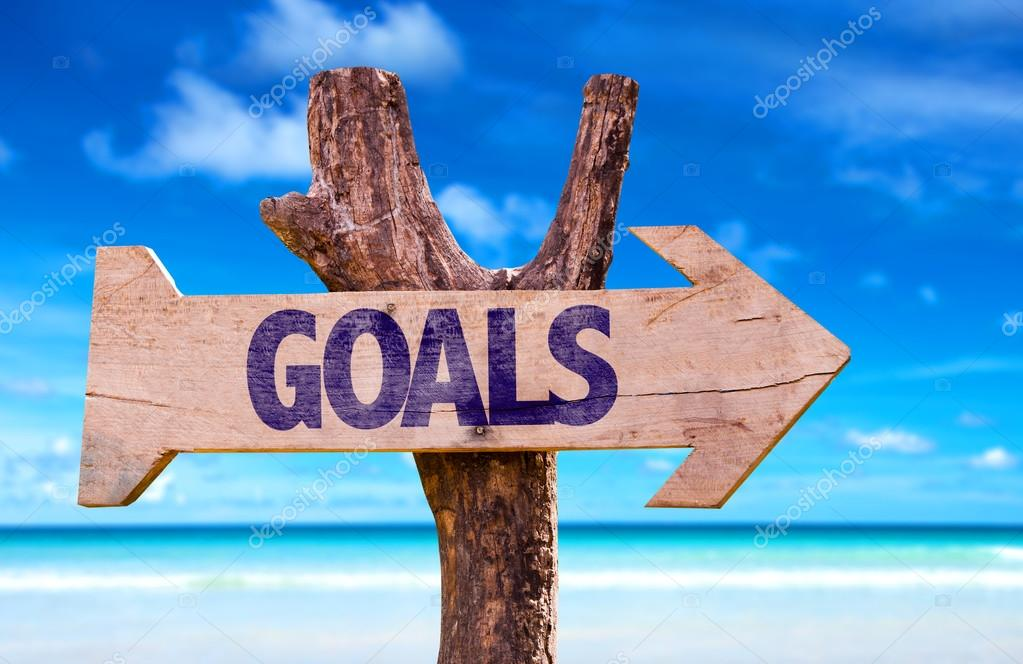 Goals wooden sign
