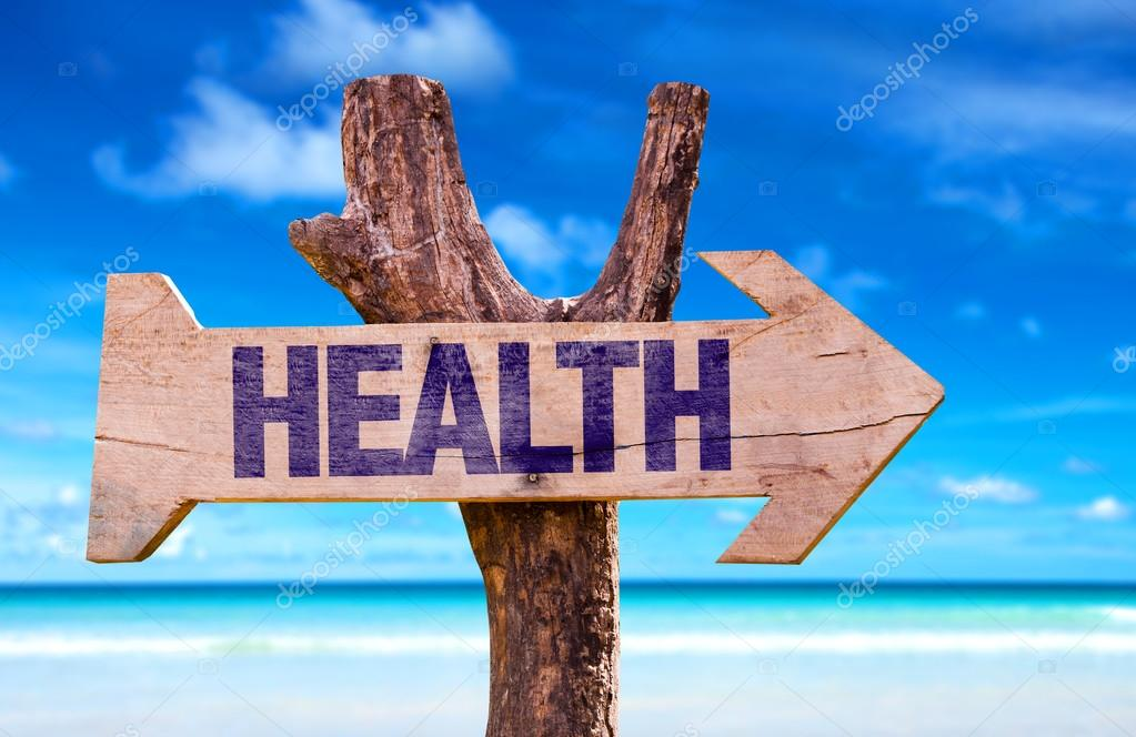 Health wooden sign