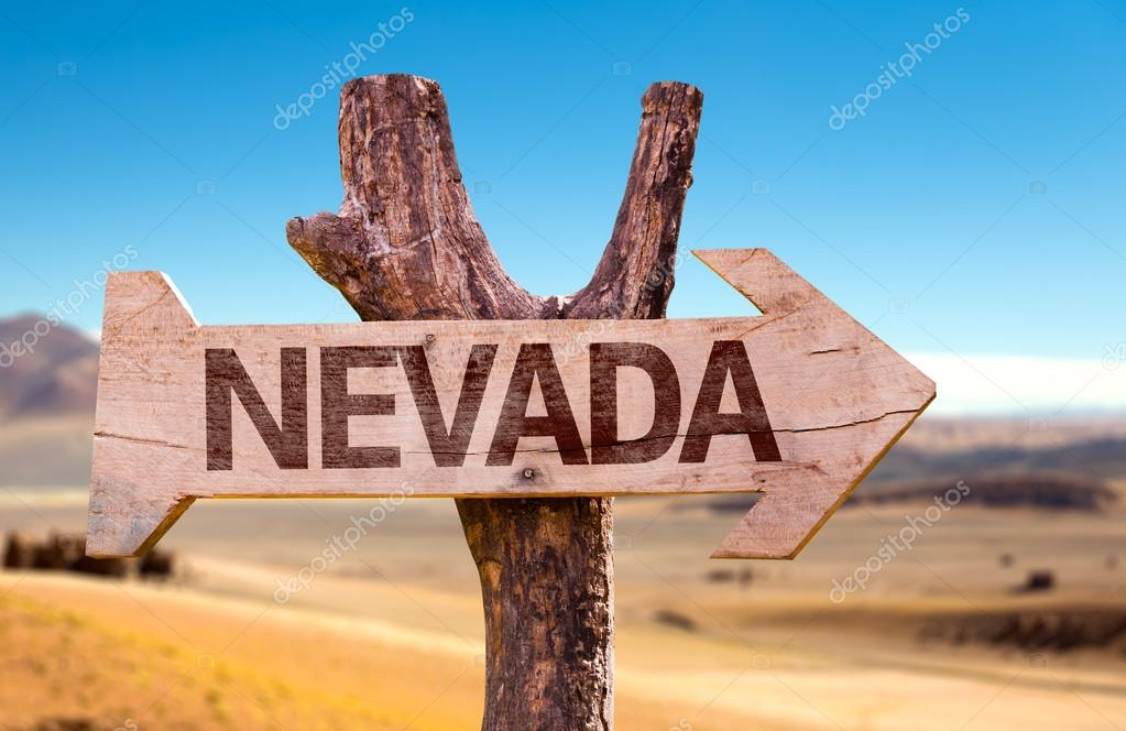 Nevada wooden sign