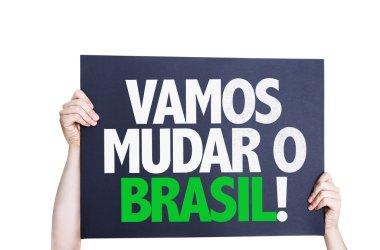 Let's Change Brazil (in Portuguese) card