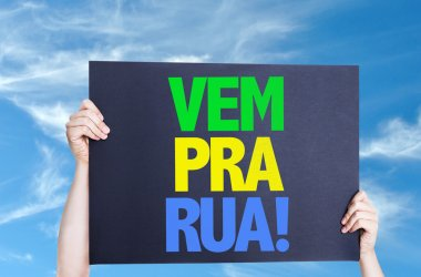 Come to Street (in Portuguese) card