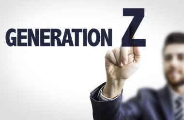 Man with text: Generation Z