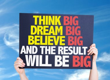 Think Big Dream card