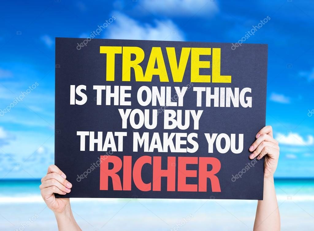 Travel is the Only Thing  card