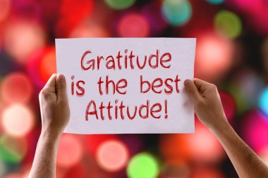 Gratitude is the Best Attitude card