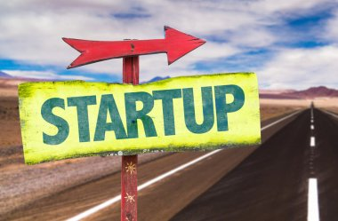 Text:Startup on sign