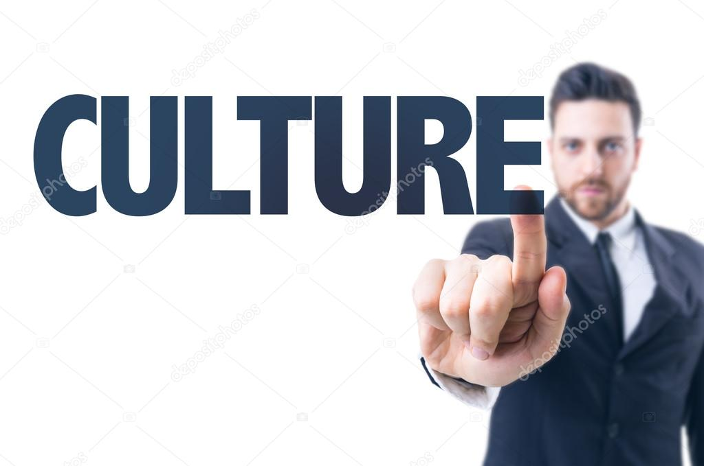 man with text: Culture