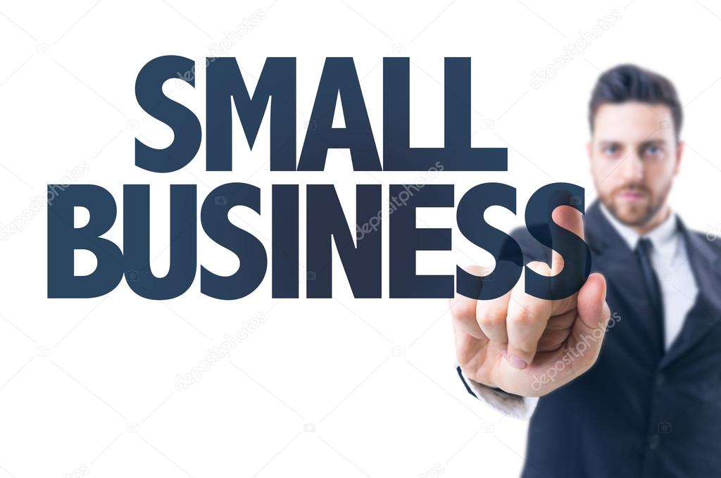 Text: Small Business