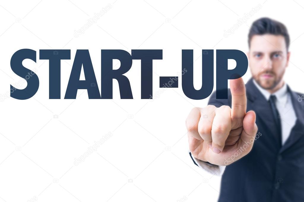 Man wirh text: Start-up
