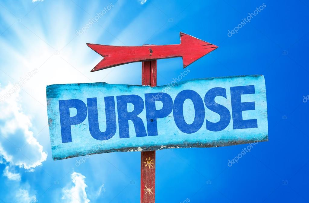 Text:Purpose on sign