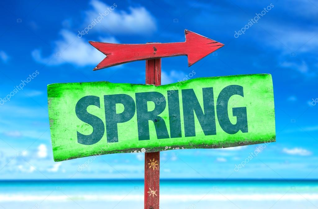 Text:Spring on sign