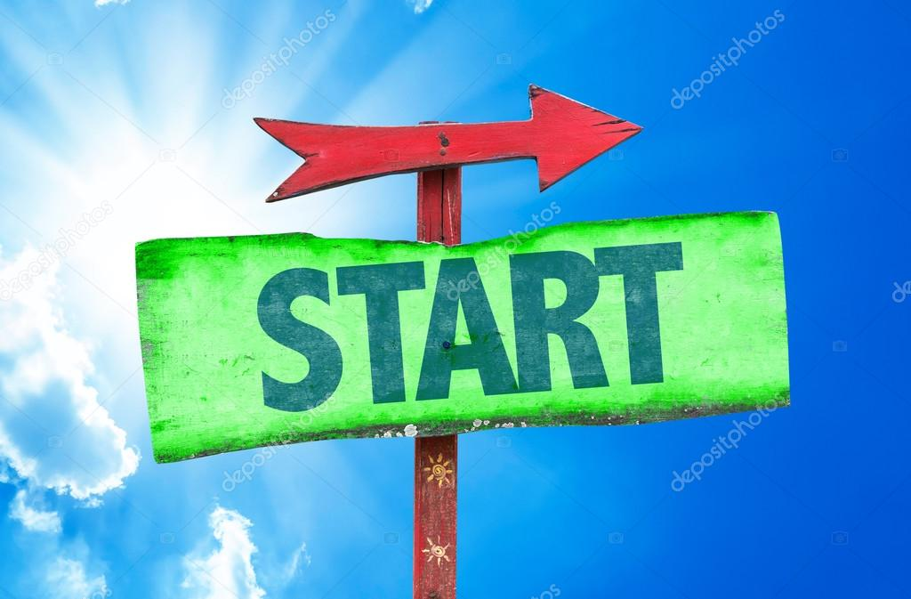 Text:Start on sign
