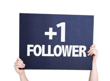 +1 Follower card