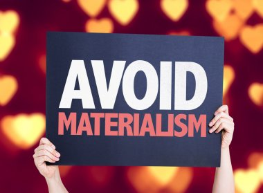 Avoid Materialism card