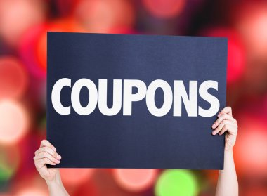 Coupons text card