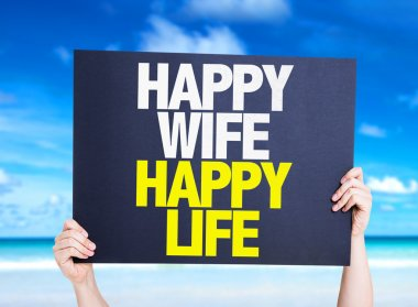 Happy Wife Happy Life card