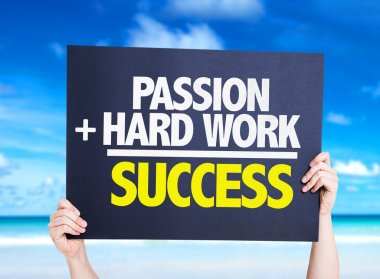 Passion and Hard Work is Success card