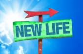 New Life text sign