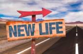 Fotografie New Life text sign