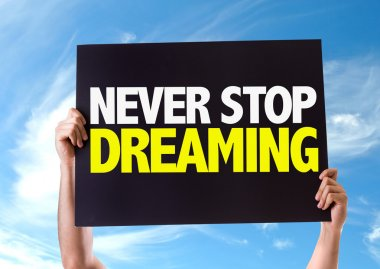 Never Stop Dreaming card