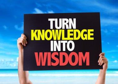 Turn Knowledge into Wisdom card