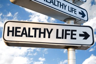 Healthy Life direction sign