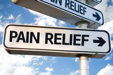 Pain Relief direction sign