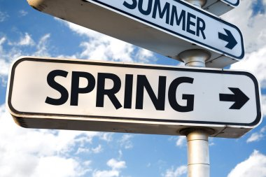 Spring direction sign