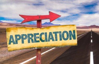 appreciation text sign