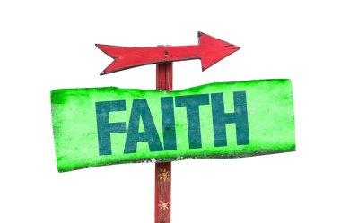 faith text sign