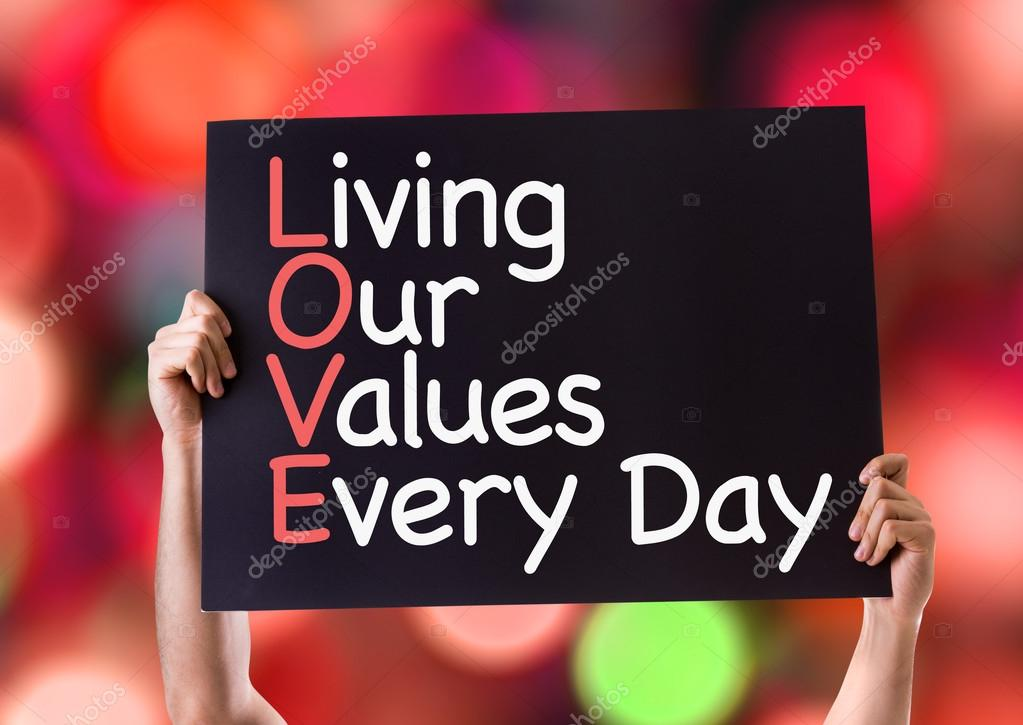 Living Our Values Every Day card