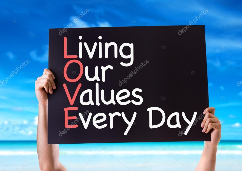 Carta di soggiorno nostro valori ogni giorno — Foto Stock ...